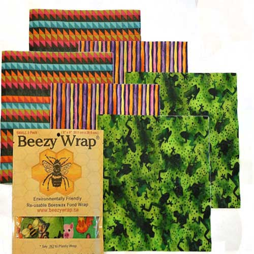Beeswax Wrap by Beezy Wrap®. A Biodegradable environmentally friendly bee wrap made in Nova Scotia, Canada. A beeswax replacement for plastic. Beeswax wrap Canada