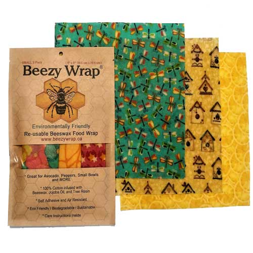 Beezy Wrap® Multi Color Small 3 Pack Beeswax Wrap beeswax food wrap