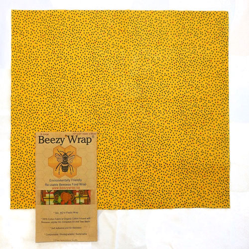 X Large Beezy Wrap® beeswax food wrap. A Biodegradable environmentally friendly beeswax wrap made in Nova Scotia, Canada. A beeswax plastic wrap alternative. Beeswax wrap Canada