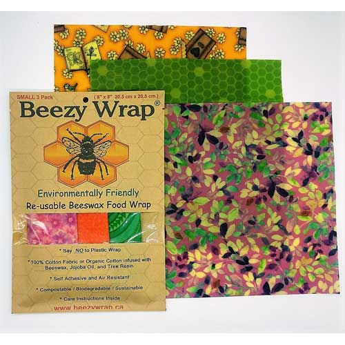Beezy Wrap Beeswax Wrap Small 3 pack multicolor