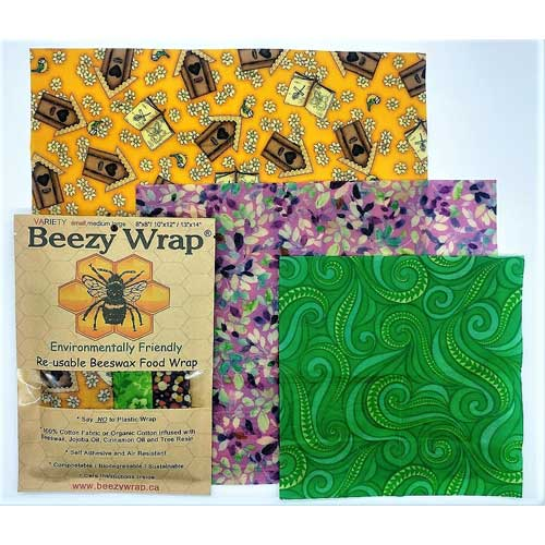 Beezy Wrap®Variety 3 Pack Beeswax Wrap multicolor