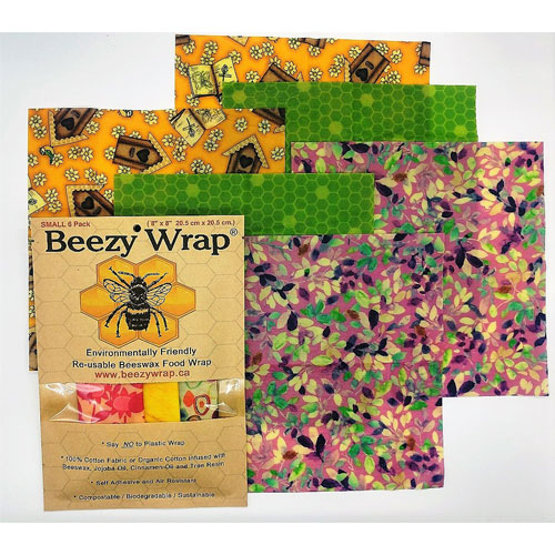 Beezy Wrap beeswax wrap 6 pack multicolor