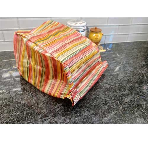beeswax wrap bread bag made in Canada