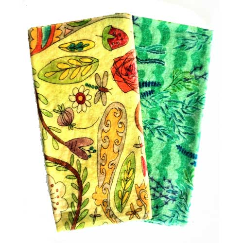 Beezy Wrap® Multi Color Large 2 Pack Beeswax Wrap