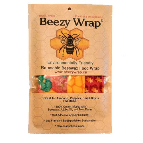 Beezy Wrap® Multi Color Small 3 Pack Beeswax Wrap
