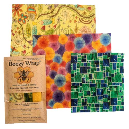 Beezy Wrap® Multi Color Variety 3 Pack Beeswax Wrap