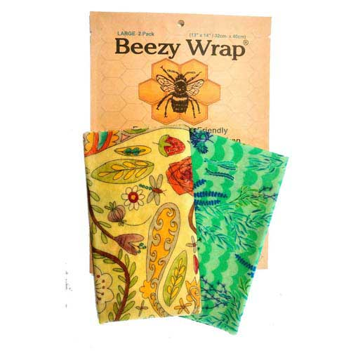 Beezy Wrap® Multi Color Large 2 Pack Beeswax Wrap.