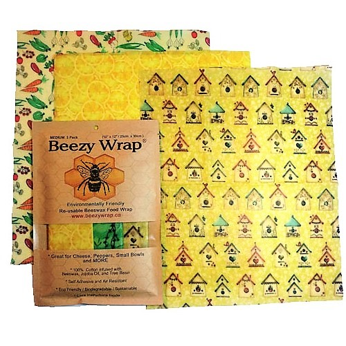 Beezy Wrap® Multi Color Medium 3 Pack Beeswax Wrap