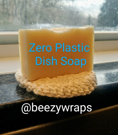 Beezy Wrap® solid dish soap and solid dish soap cozy / scrubby , zero plastic, eco-friendly, zero waste