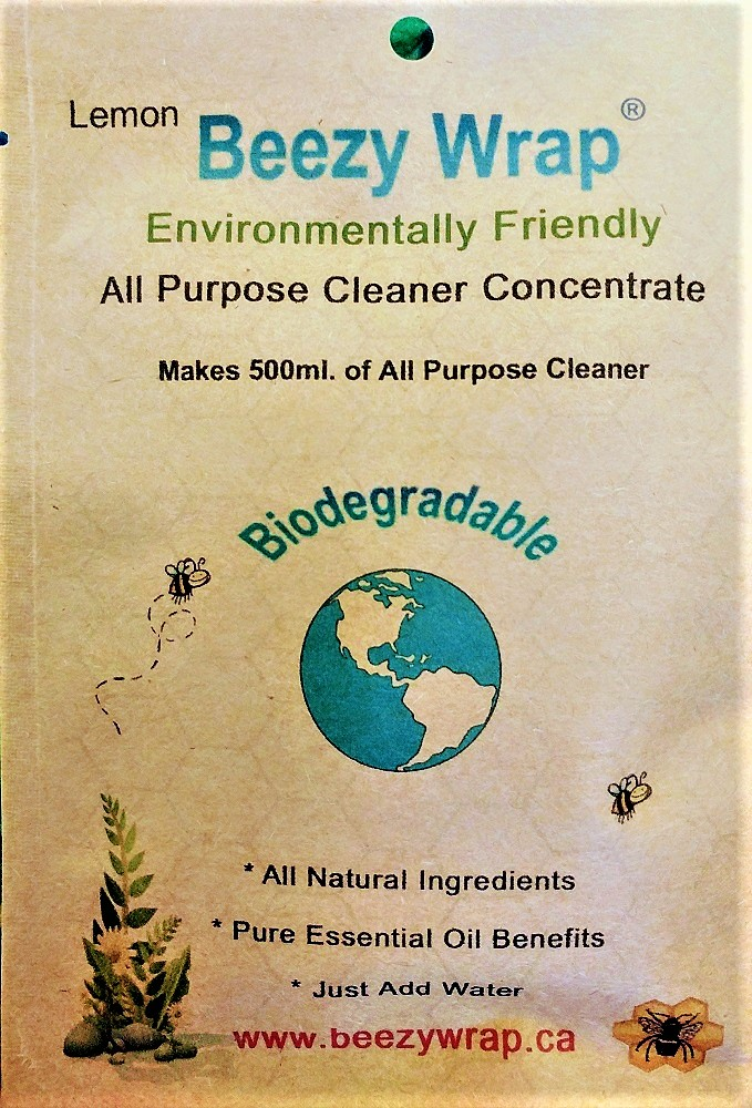 Eco Friendly, Zero Plastic All purpose Cleaner concentrate Lemon, all natural