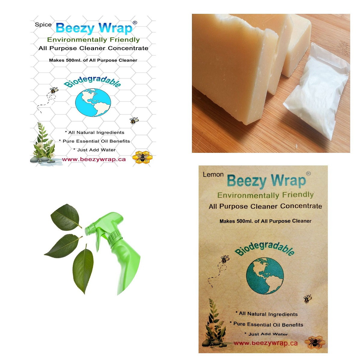 Eco Friendly Dish Soap Beezy Wrap Solid Dish Soap and Eco Friendly All purpose Cleaner Concentrate