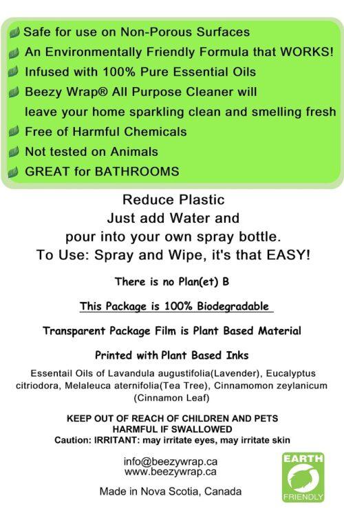 Eco Friendly, Zero Plastic All purpose Cleaner, all natural essential oils